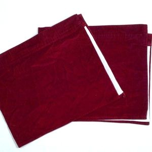 Hand Made Custom Red Valances Curtains Pair Set 2